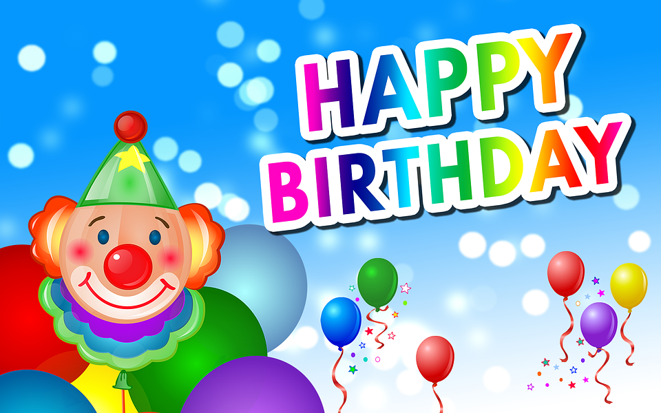 Birthday Happy Balloons Greeting Card