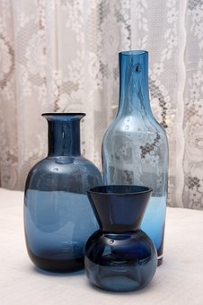 Container, Bottle, Vases, Blue