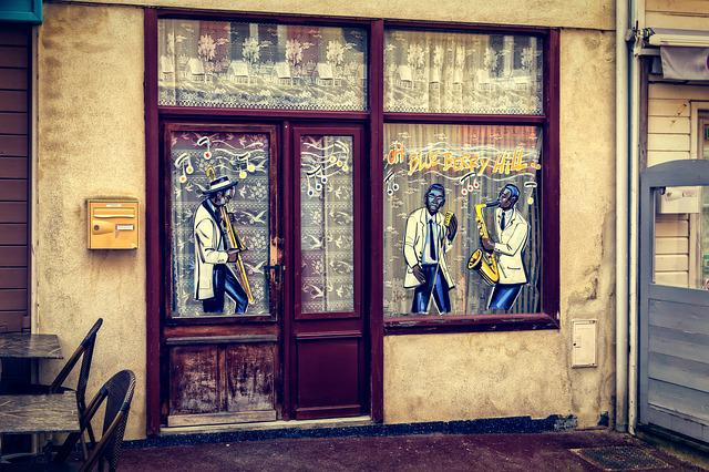 Pub, Bar, Music, Window, France, Normandy
