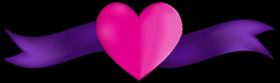 banner heart ribbon free image on pixabay