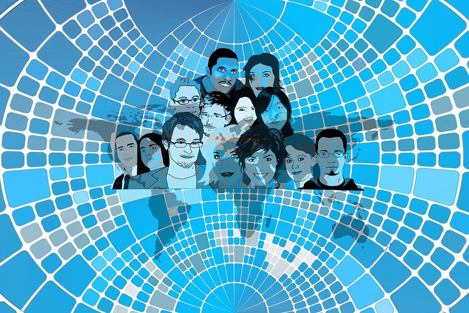 個人, 集団, グループ, 知っています, 濃度, 一緒に, コミュニティ, 思う, インテリジェンス
