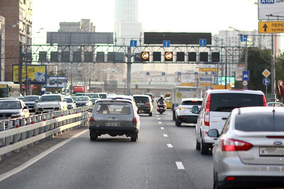 車, モスクワ, 渋滞, コルク, 交通システム, 道路, トラフィック, ストリート, トラック, ロシア