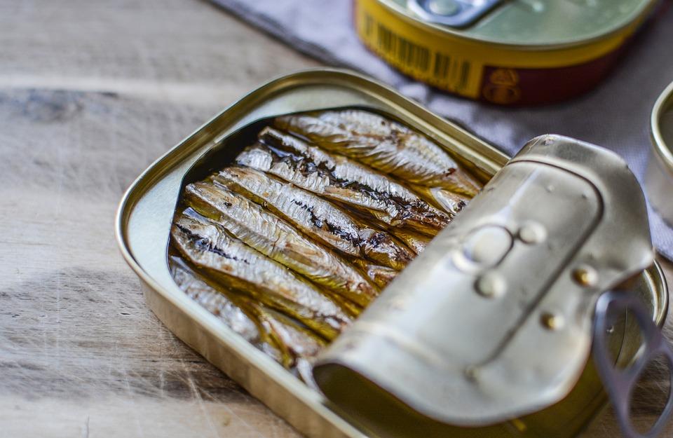 Di Pesce, Può, Metallico, Alluminio, Contenitore
