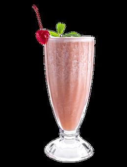 Milkshake, Drink, Glass, Strawberry