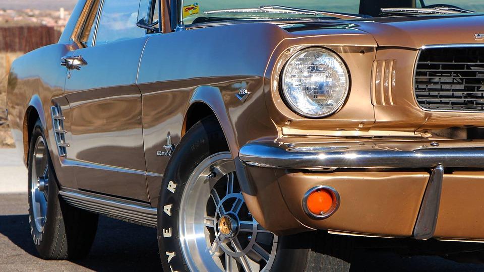 フォード, マスタング, 66, 車, 交通機関, 車両, クロム, ドライブ, 古典的な, ホイール