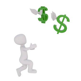 Dollar, お金, 逃げる, 金融, 教育, 金のマインド, 3Dman