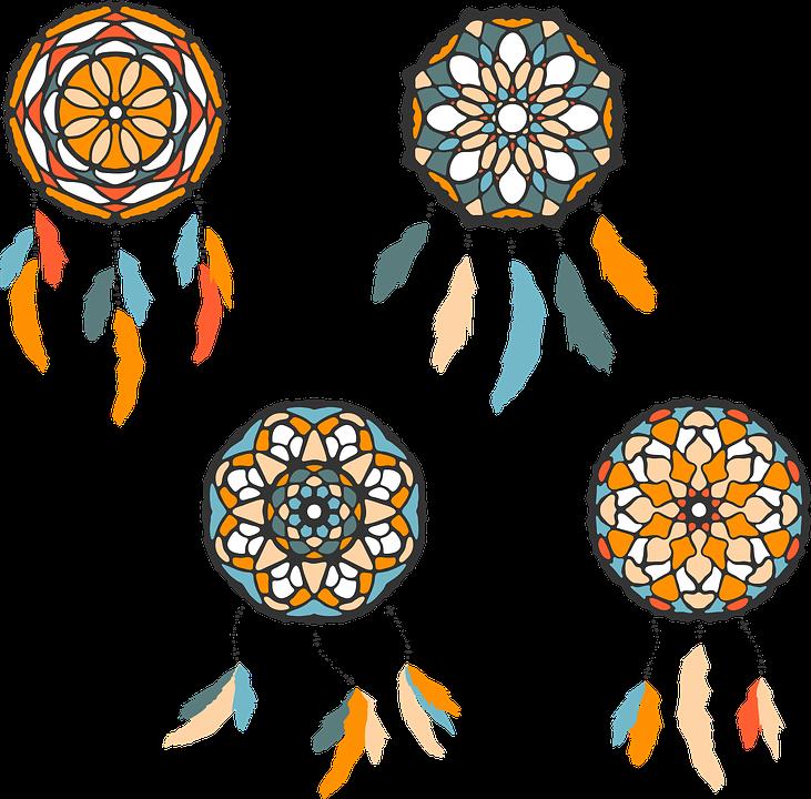Dreamcatcher Abstract Orange Free Vector Graphic On Pixabay