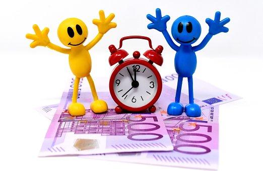 時は金なり, 紙幣, 数字, おかしい, クロック, 時間を示す, お金