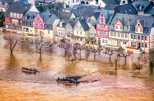 High Water, Rhine, Rhineland Palatinate