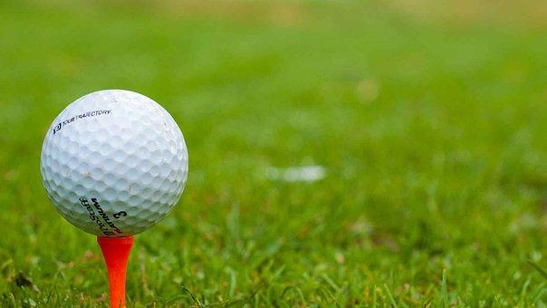 Golf, Golfer, Tee, Ball, Course