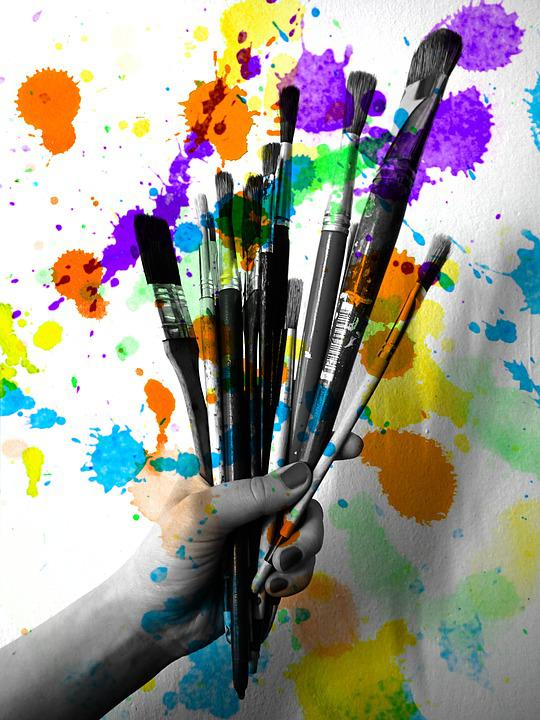 Creativity Brushes Painting The 183 Free Photo On Pixabay