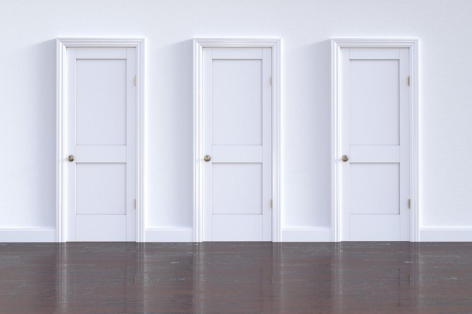 戸口, ドア, 家族, 空, 屋内で, 終了, 壁, 入り口
