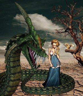 Mujer, Adulto, Fantasía, Serpiente