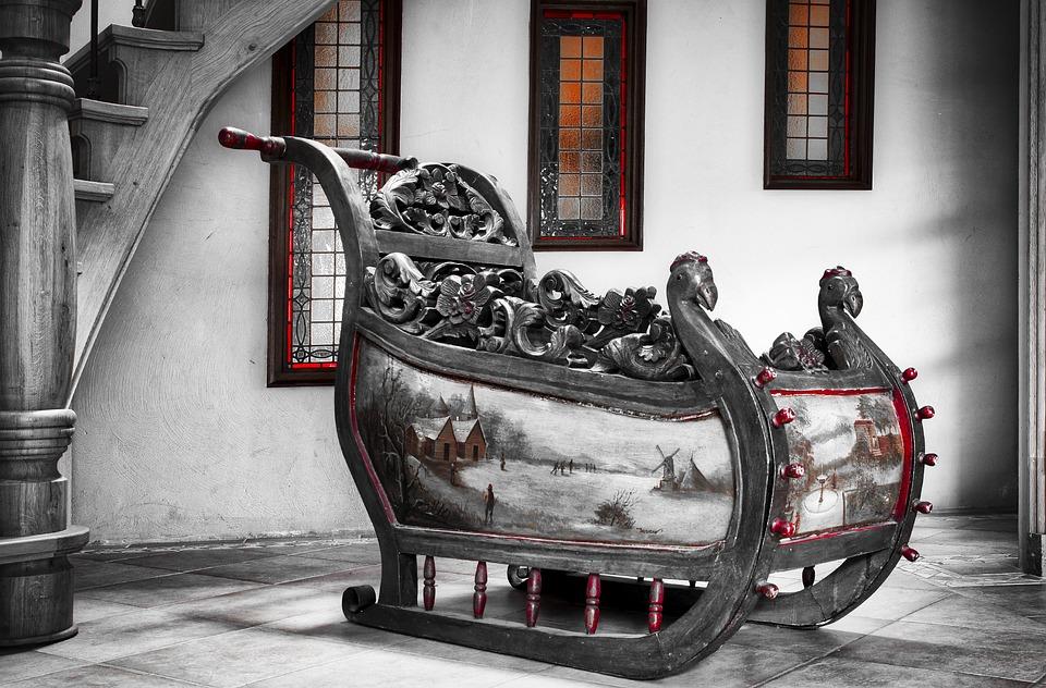 слайд старый деревянные сани бесплатное фото на Pixabay