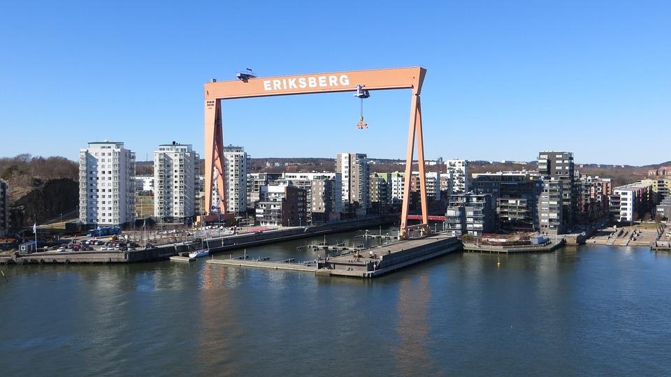 Göteborg, Erik Berg, Vatten, Panorama, Stad, River