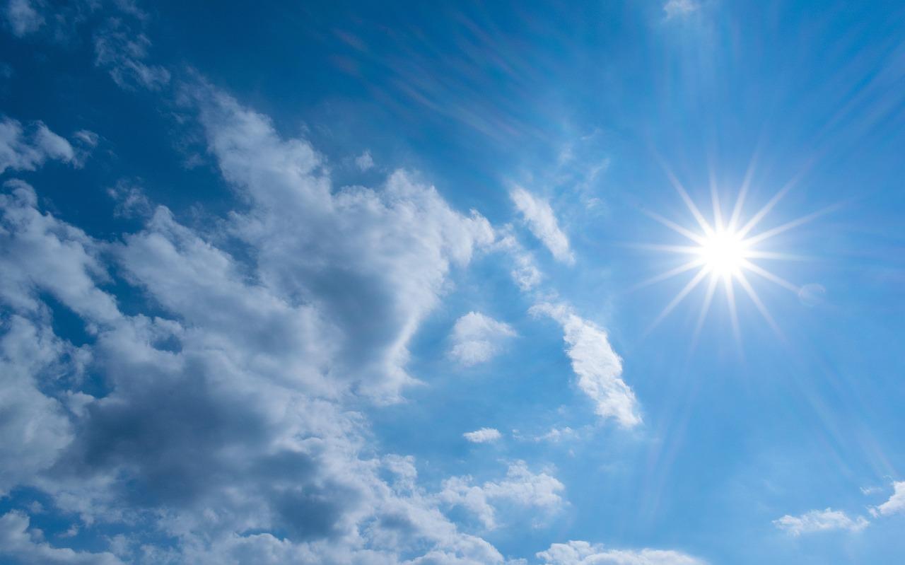 ネイチャー, 夏, 太陽, 天気予報, ふわふわ, 空, 雲, ブルー, 彼女の髪の輝きは、, 自然, 青空