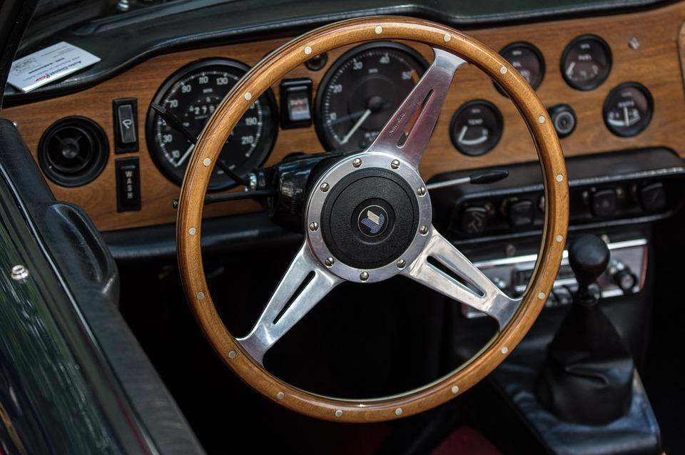Auto Triumph Wood Steering Wheel Free Photo On Pixabay