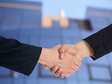 ハンドシェイク, 協力, パートナーシップ, 契約, チームワーク, ビジネス