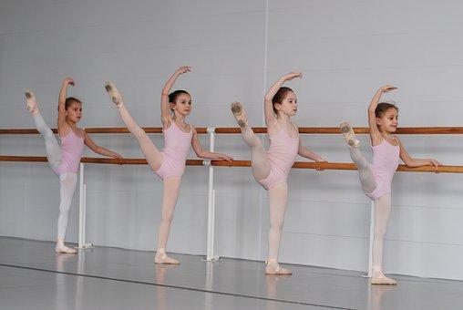 バレエ, 学校, クラス, バレリーナ, ダンスレッスン, 子供, バレリーナ