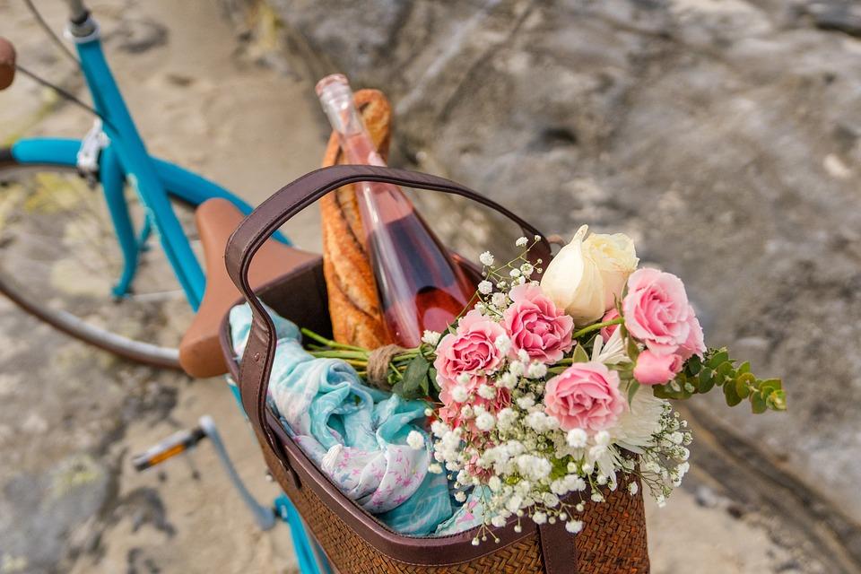 Natur, Sommer, Flora, Garten, Blumen, Picknick