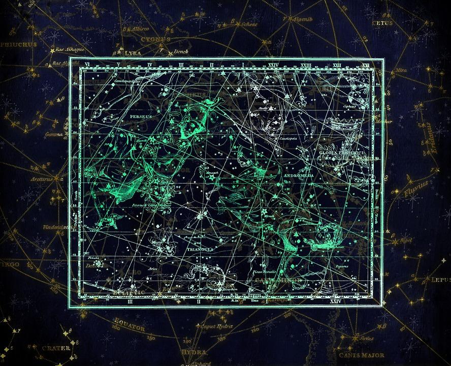 Sternbild, Konstellationskarte, Sternzeichen, Himmel
