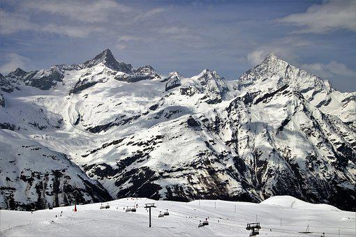The Alps, Zermatt, Snow, Mountain