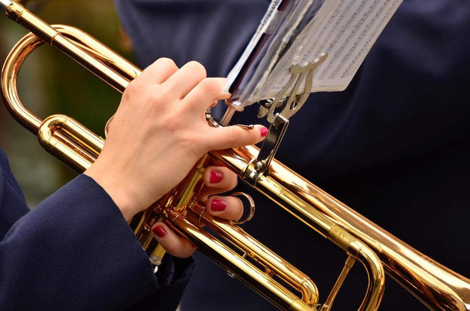 トランペット, ジャズ, 楽器, 行進, 音楽, オーケストラ, ブラス, 音楽を, 音楽バンド