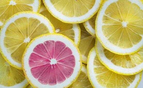レモン, 柑橘類, フルーツ, ジューシーです, 酸, 背景, クエン酸