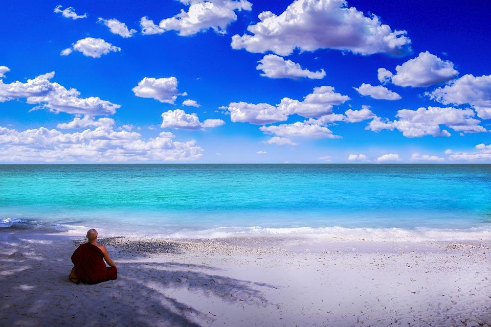 水, 旅行, 夏, 海, ビーチ, 緩和, 風景, 風光明媚な, 島, 瞑想, リラックス, 平和, 穏やかな