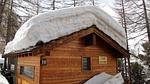 śnieg, dom, zima