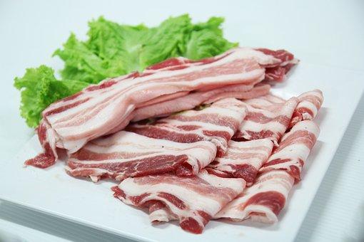 肝臓, 豚, 調理, 新鮮な, 食品, 肉, タイ料理, おいしい, シャーレ