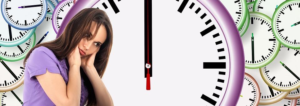 Temps, Femme, Face, Routine, Habitude, Tapis Roulant
