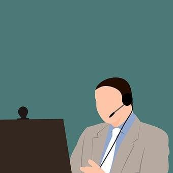 オンライン, ウェビナー, 先生, テレビ会議, チューター, ビデオ