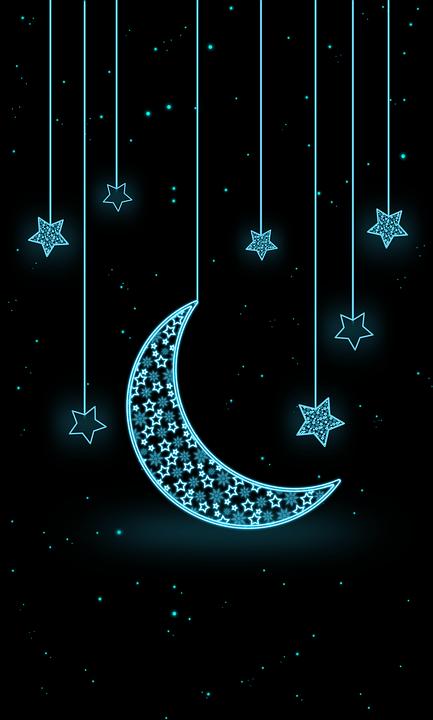 Moon Star Neon - Free image on Pixabay