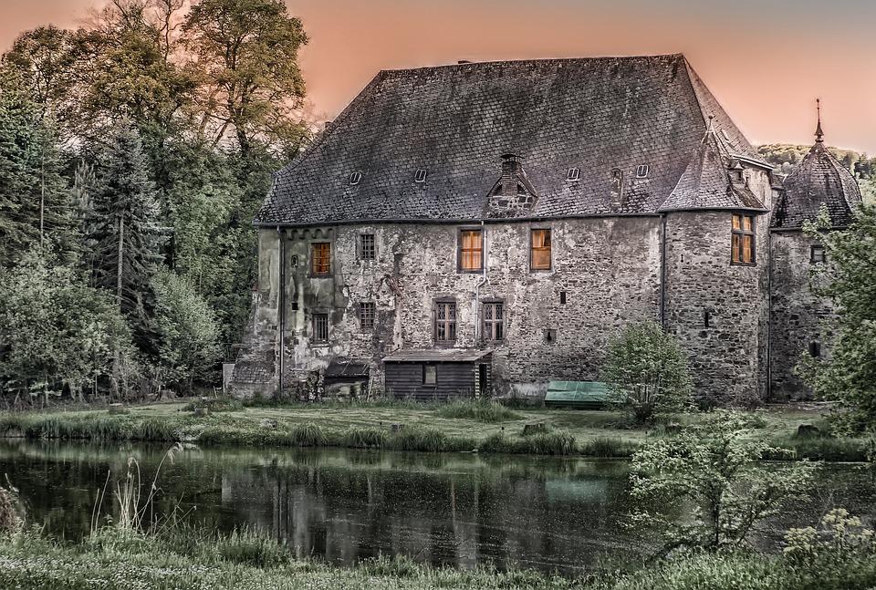 Architektur, Gebäude, Schloss, Alt, Krayerhof