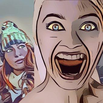 Stressed Woman, Females, Lady, Scream