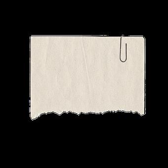 paper clip paper torn note