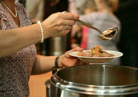 スープ, スープキッチン, フル, 空腹, 食糧配給, 食品, 調理する