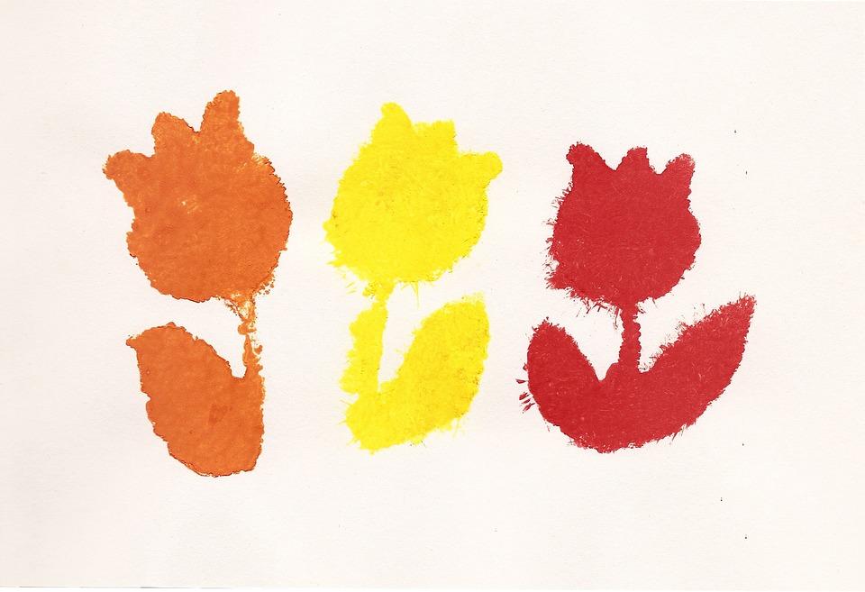 Kvetiny Kresleni Detska Kresba Obrazek Zdarma Na Pixabay