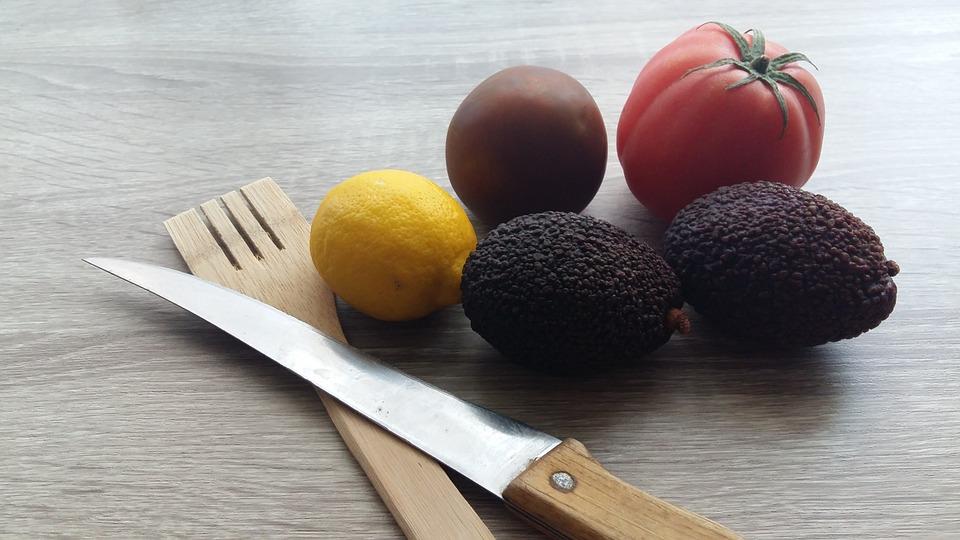 Cuchillo, Comida, Saludable, Tenedor, Avocado, Palta