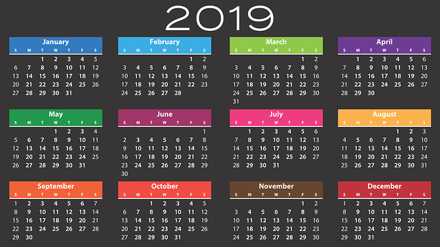 calendar 2019 agenda  u00b7 free vector graphic on pixabay