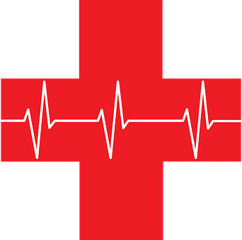 Ekg, Red Cross, First Aid, Health