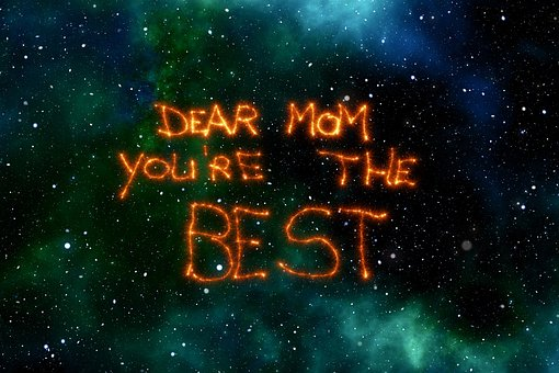 母の日, 母, スター, 宇宙, スペース, 感謝の気持ち, 愛, ありがとう