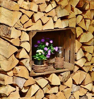 Holz, Holzstapel, Mauer, Baum, Hölzern