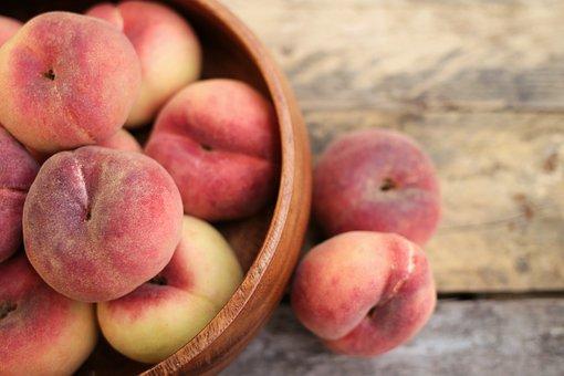 桃、ネクタリン、果物、食べ物、熟した、