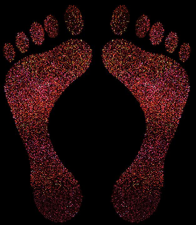 Картинка отпечаток ноги человека