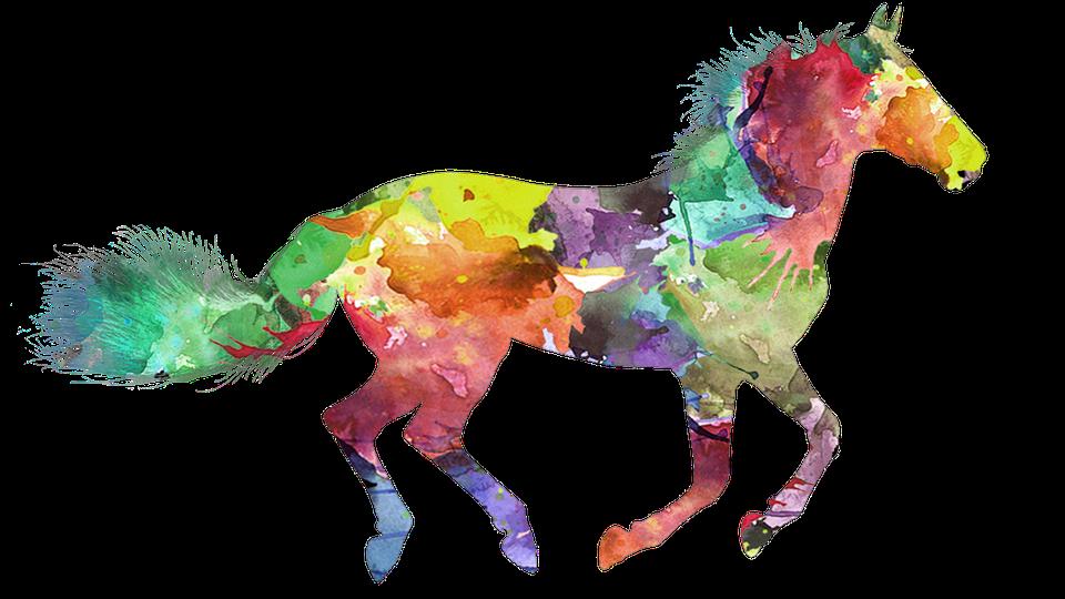 pferd bunte gemalte kostenloses bild auf pixabay. Black Bedroom Furniture Sets. Home Design Ideas