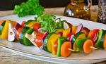 igłe, warzyw, grillowane warzywa