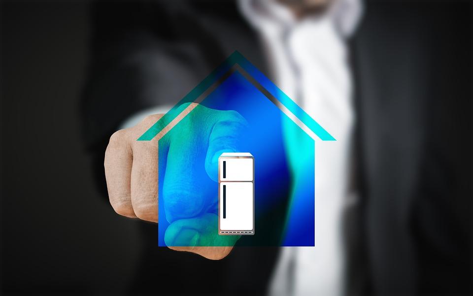 Smart Home, House, Technology Touch Screen, Man Finger
