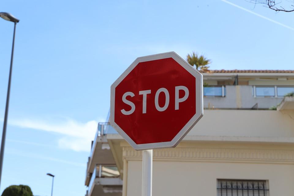 ストリート, 道路, 空, トラフィック, サイン, 青空, 事業, 外, ご案内, ストップ, ルール